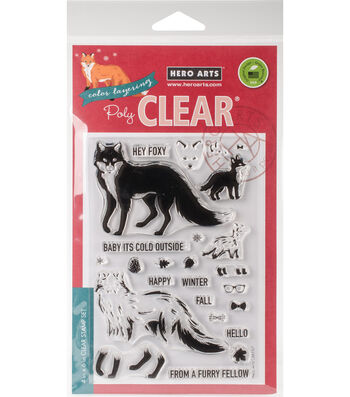 Hero Arts 24 pk Color Layering Clear Stamps-Cool Fox