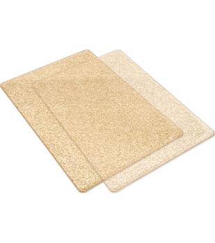 Sizzix Big Shot Standard Cutting Pads-Clear & Gold Glitter