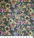 Novelty Cotton Fabric-Birdies in Flowers