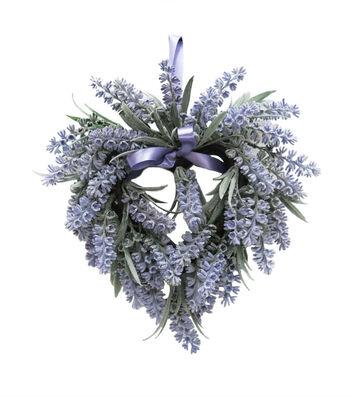Fresh Picked Spring 9.5''x10'' Heart Wreath