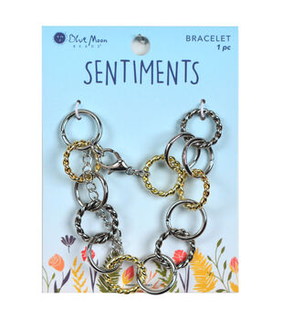 Blue Moon Beads Sentiments Multi Link Bracelet