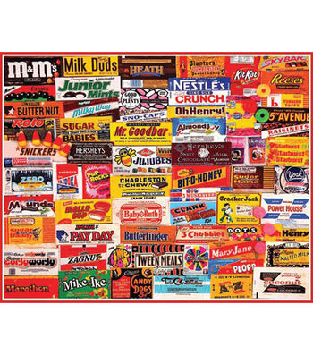 """Jigsaw Puzzle 1000 Pieces 24""""X30""""-Candy Wrappers"""