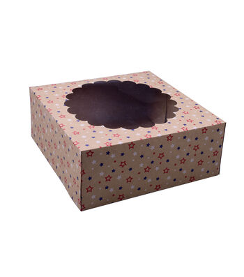 Land of the Free Baking Patriotic 2 pk Pie Boxes-Stars