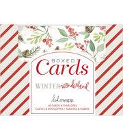 Heidi Swapp A2 Cards W/Envelopes (4.375''X5.75'')-Winter Wonderland, , hi-res