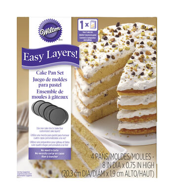 "Wilton Easy Layers 8"" Round Cake Pan Set 4pc"