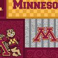 University of Minnesota Gophers Fleece Fabric-College Patch