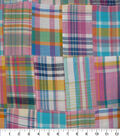 Shirting Fabric -Pink Plaid Patchwork