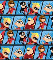 Disney Incredibles 2 Fleece Fabric -Comic Scene, , hi-res