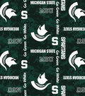 Michigan State University Spartans Fleece Fabric -Digital