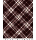 Quilter\u0027s Flannel Fabric-Brown Riley Plaid