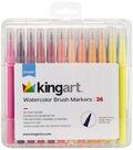 KINGART Watercolor Brush Marker Set 36/Pkg