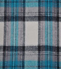 Flannel Shirting Fabric 42.9\u0022-Teal Navy White