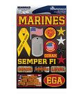 Reminisce Signature Dimensional Stickers Marines