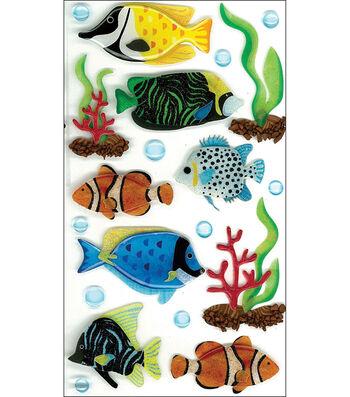 Jolee's Boutique Le Grande Dimensional Sticker-Tropical Fish Large