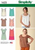 Simplicity Pattern 1423A Xxs-Xs-S-M-Misses Tops Vests