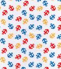 Nursery Cotton Fabric -Bright Anchors