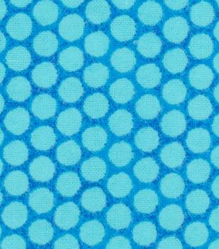Nursery Flannel Fabric-Whale Dots
