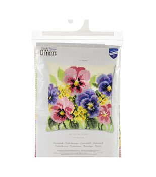 Vervaco Needlepoint Cushion Top Kit 16''X16''-Violets