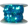 Wrights Trims-Stretch Sequin Teal