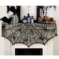 Maker\u0027s Halloween 60\u0027\u0027x20\u0027\u0027 Creepy Spiders Lace Mantle Scarf