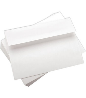 "Leader A7 Envelopes (5.25""X7.25"") 100/Pkg-White"