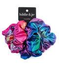hildie & jo 3 pk Fabric Hair Scrunchies-Glitter Prints