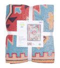 No Sew Fleece Throw-Textured Aztec