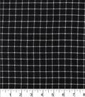 Homespuns Cotton Fabric-Black Windowpane