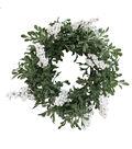 Blooming Holiday Christmas 13\u0027\u0027 White Berry & Glistening Greenery Wreath