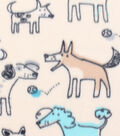 Blizzard Fleece Fabric 59\u0027\u0027-Sketched Dogs with Shadows