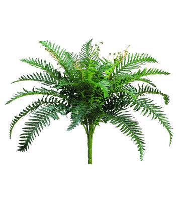 "19"" Small Sword Fern Bush-Green"