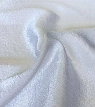 Casa Collection Crushed Satin Fabric 54''-White