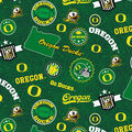 University of Oregon Ducks Cotton Fabric-Home State