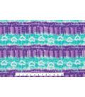 Anti-Pill Fleece Fabric 59\u0022-Tie Dye Purp Teal Stripe Hearts