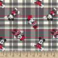 Disney Mickey & Minnie Cotton Fabric-Plaid