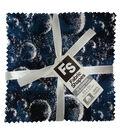 Charm Cotton Fabric Pack 5\u0027\u0027x5\u0027\u0027-Blue & Metallic Batik