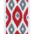 Offray Satin Ribbon 7/8\u0027\u0027x9\u0027-Red Abstract Ikat