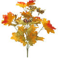 Blooming Autumn 20\u0027\u0027 Glitter Maple Leaf & Berry Bush-Yellow & Green