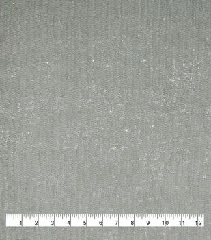 """Textured Sweater Knit Fabric 57""""-Gray Silver Foil"""