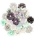 Prima Marketing Flirty Fleur Mulberry Paper Flowers 24/Pkg-Little Moment