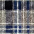 Luxe Fleece Fabric 43\u0027\u0027-Gray & Navy Plaid