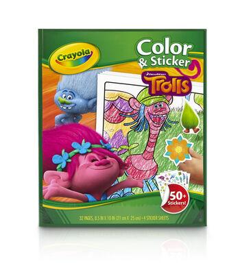 Crayola Dreamworks Trolls Color & Sticker Book