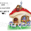 Stamping Bella 4 pk Rubber Cling Stamps-Gnome Home