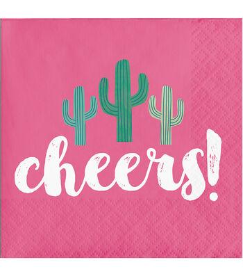 Cactus 20 pk 5''x5'' Beverage Napkins-Cheers!