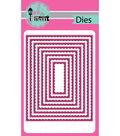 Pink & Main Dies-Stitched Rectangles .5\u0022 To 5.25\u0022