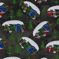 Christmas Cotton Fabric-Plaid Holiday Campers