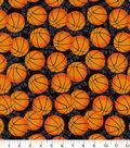 Snuggle Flannel Fabric -Slam Dunk Basketballs