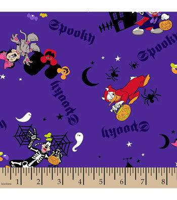 Halloween Cotton Fabric-Mickey Spooky