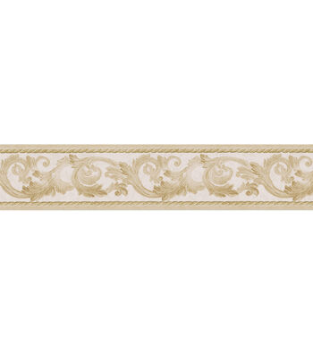 Scroll Rope  Wallpaper Border, Gold