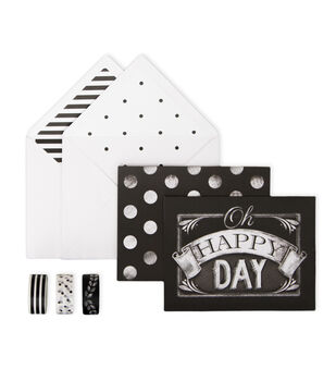 My Minds Eye Paper Goods Chalk Cards Happy Day
